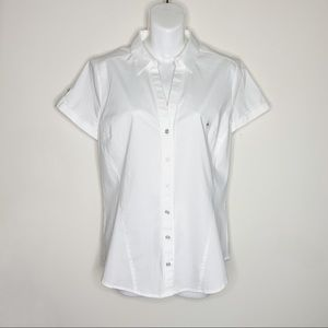 NWT New York & Company Button Up Career Blouse M